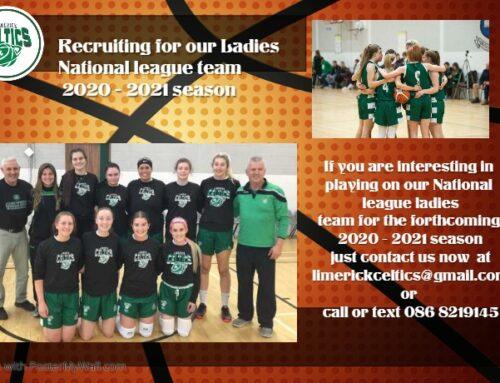 Recruiting for Ladies National League 2020-21 Season