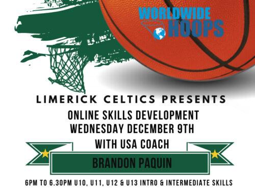 Limerick Celtics Online Skills Development sessions